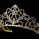 Royal Rhinestone Tiara for the Bride in Gold