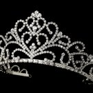 Royal Rhinestone Tiara for Quinceanera, Sweet 16 in Silver
