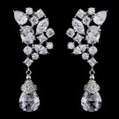 Stunning Silver CZ Dangle Earrings
