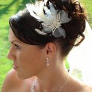 Vintage Style Feather Fascinator Wedding Comb