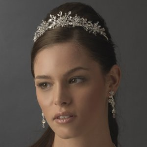 Sparkling Crystal Snowflake Quinceanera Tiara