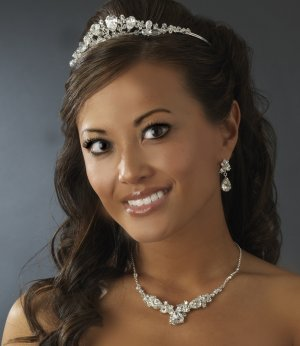 Dazzling Swarovski Crystal Silver Bridal Tiara