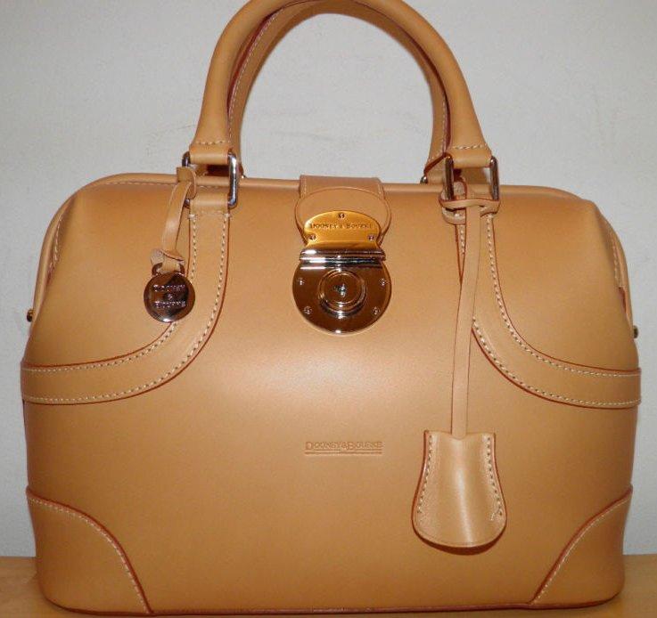 Dooney & Bourke Natural Alto Leather Doctor Satchel New