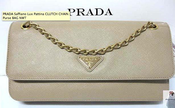 PRADA Saffiano Lux Pattina CLUTCH