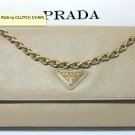 PRADA Saffiano Lux Pattina CLUTCH