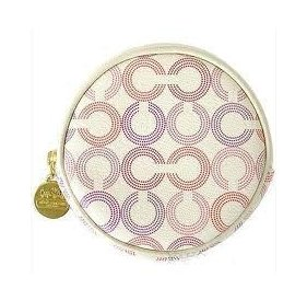 COACH Waverly Ivory Pink Coin Purse Change