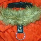 GOTH Leather w. Faux Fur Single O-RING Slave Collar