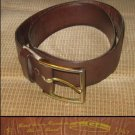 Vtg 1947 Brown GALLANT Leather / Suede Lined Belt sz32