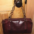 FRANCESCO BIASIA Italian Faux Snake Skin Leather Purse