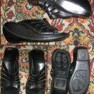 BCBG Maxazaria Womens Black Wedges Leather 8.5