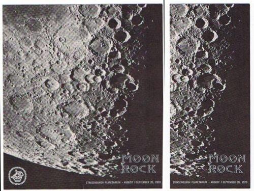 Strasenburgh Planetarium MOON ROCK Brochure - 1970