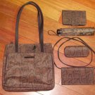 WORTHINGTON Snakeskin-Print HANDBAG PURSE 5-Piece Set