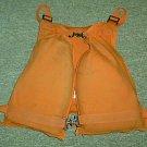 US Coast Guard Orange Canvas Unicellular Life Vest