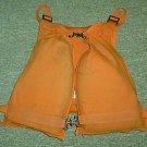 US Coast Guard Orange Canvas Unicellular Life Vest