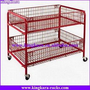 metal supermarket display basket