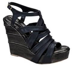 Blossom Tower-11 Black Women Wedge Sandals