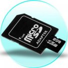 8GB MicroSD / TF Card with SD Card Slot Adapter - 3 pcs/lot