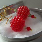 Earrings- Red Raspberries