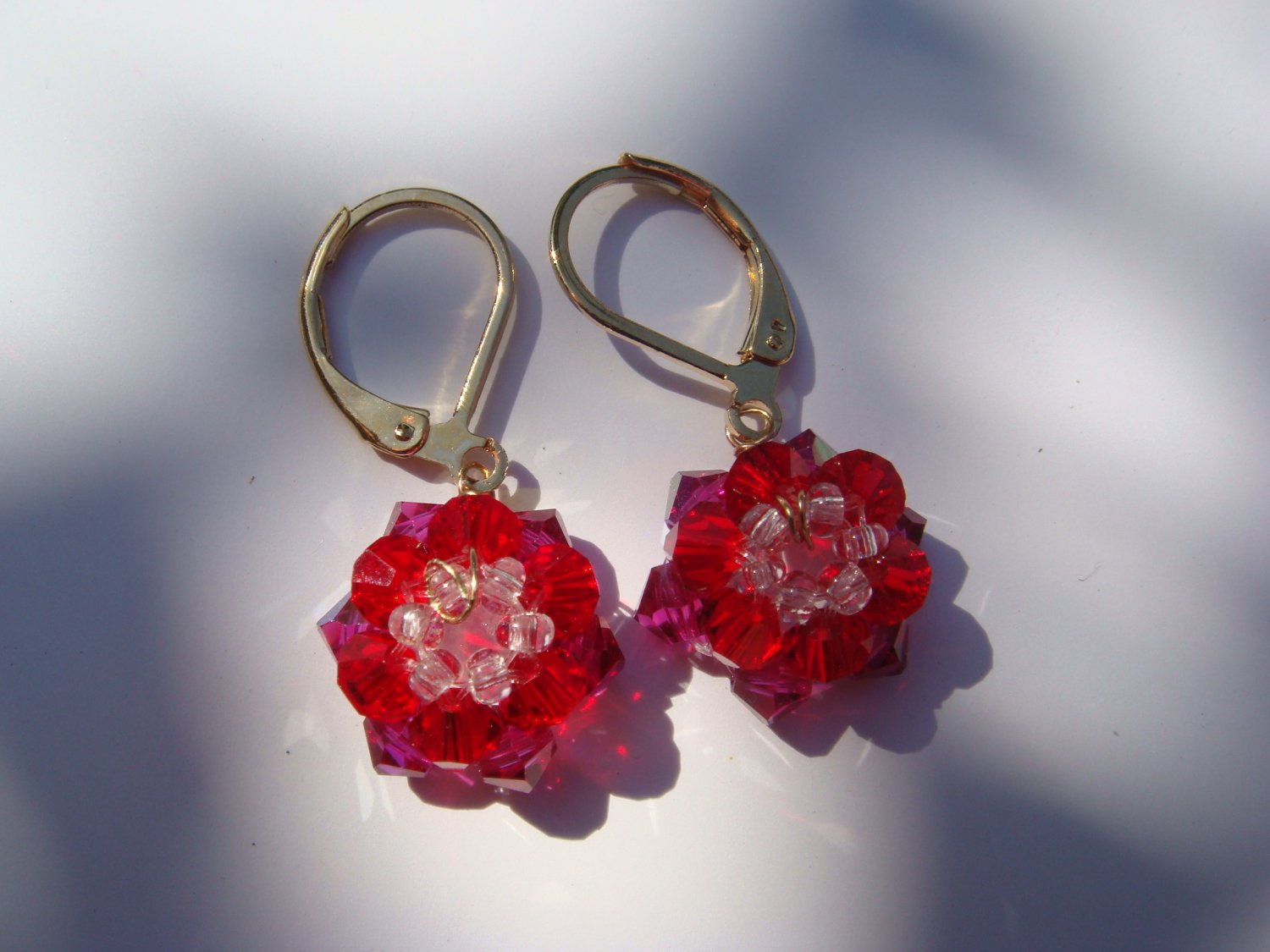 Scarlet Flowers Earrings