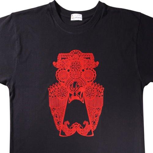 Artistic T Shirt - Chinese Facial Mask Tee for Men, New   (Men's Medium)
