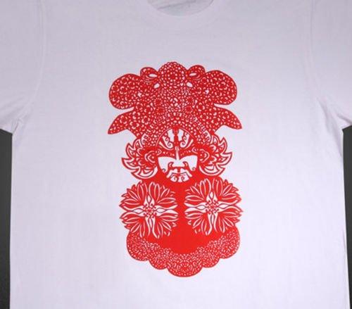 Opera Facial Makeup Graphic T-Shirts for Men, New Tee  (Men's Medium)