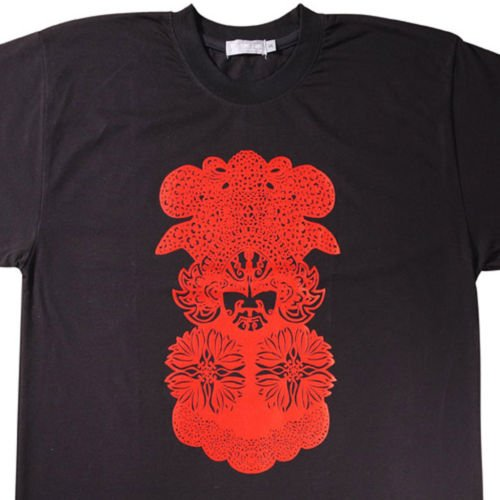 Designer T Shirt -Opera Facial Mask Design for Men, New  (Men's Medium)