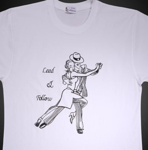 Dancing T Shirt Design for Men - New, Original   (Men's Medium)