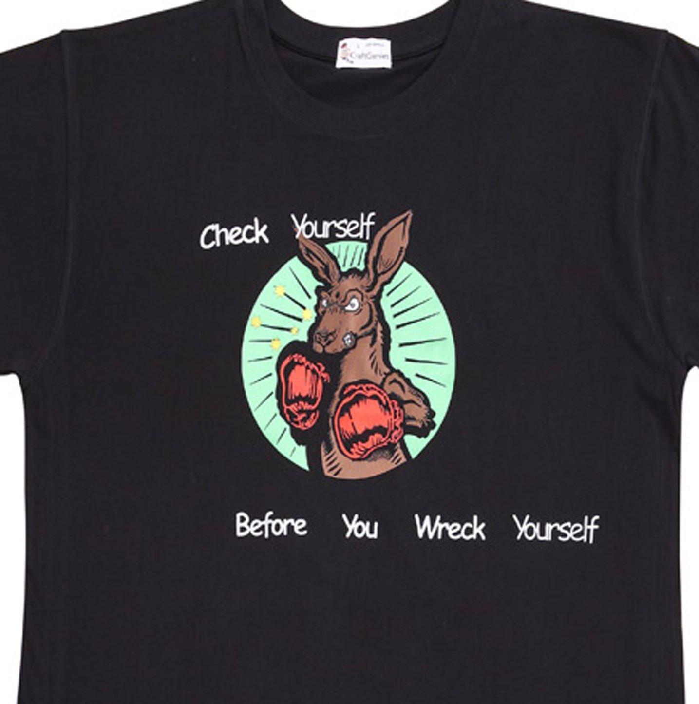 Boxing Kangaroo T-Shirt Australian Shirts for Men - New  (Men's Medium)