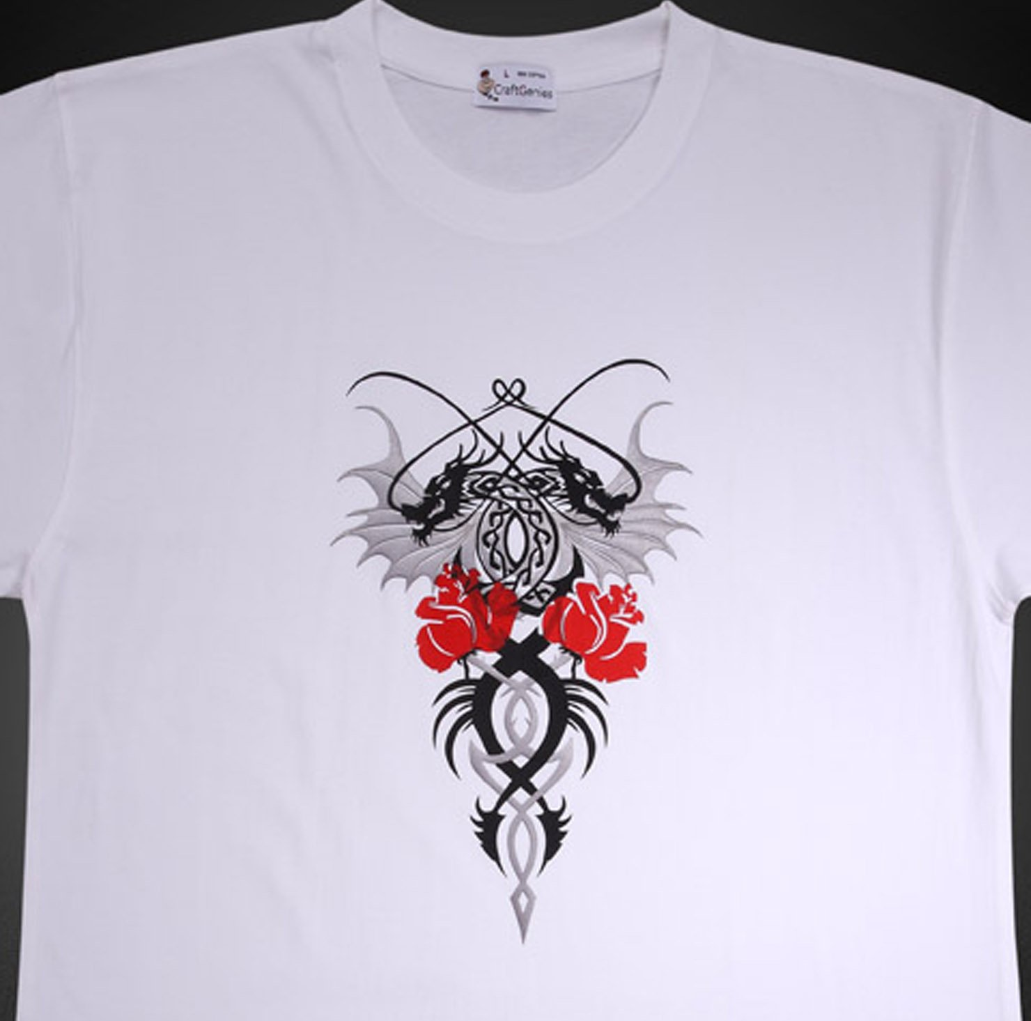 Animal Tee Dragon T Shirt Design for Men -Original Pack  (Men's Large)
