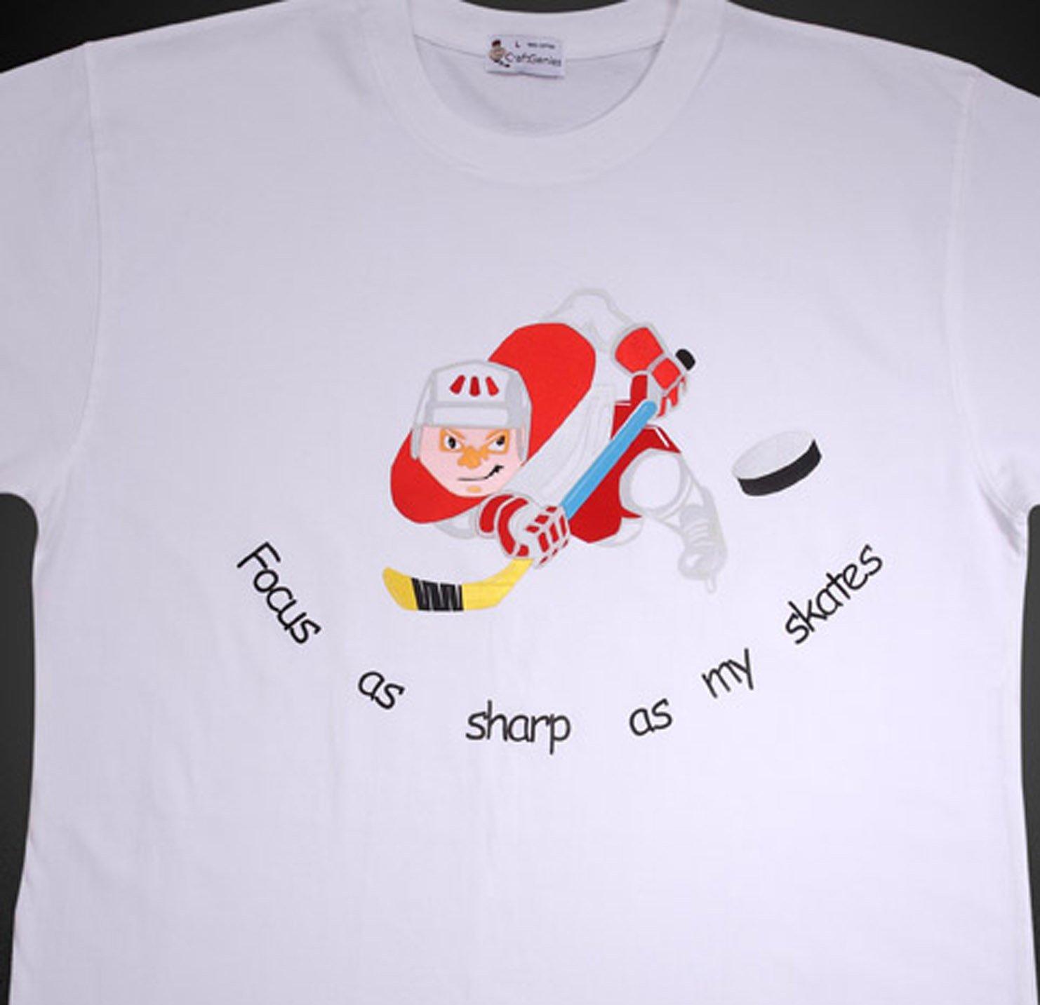 Ice Hockey T Shirt  for Sports Fan Men - New Shirt  (Men's Large)