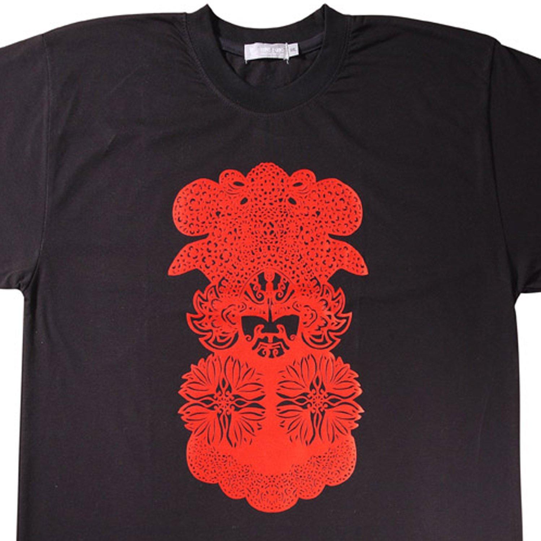 Designer T Shirt -Opera Facial Mask Design for Men, New  (Men's Large)