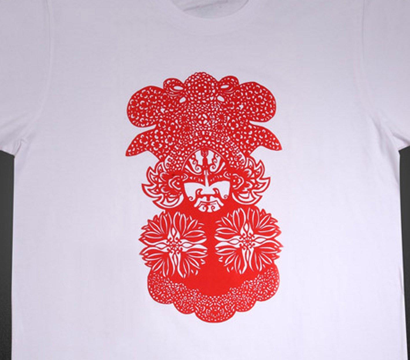 Opera Facial Makeup Graphic T-Shirts for Men, New Tee   (Men's Large)