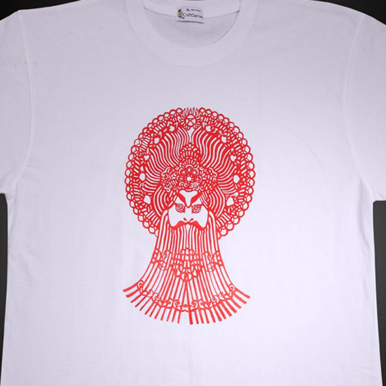 Opera Facial Makeup T Shirt Design for Men - New   (Men's Large)