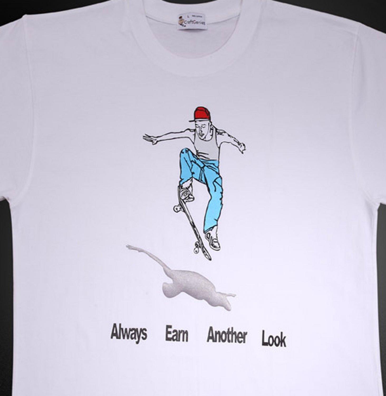 Skateboard T Shirt for Men Street Sports Fans, New Tee   (Men's Large)