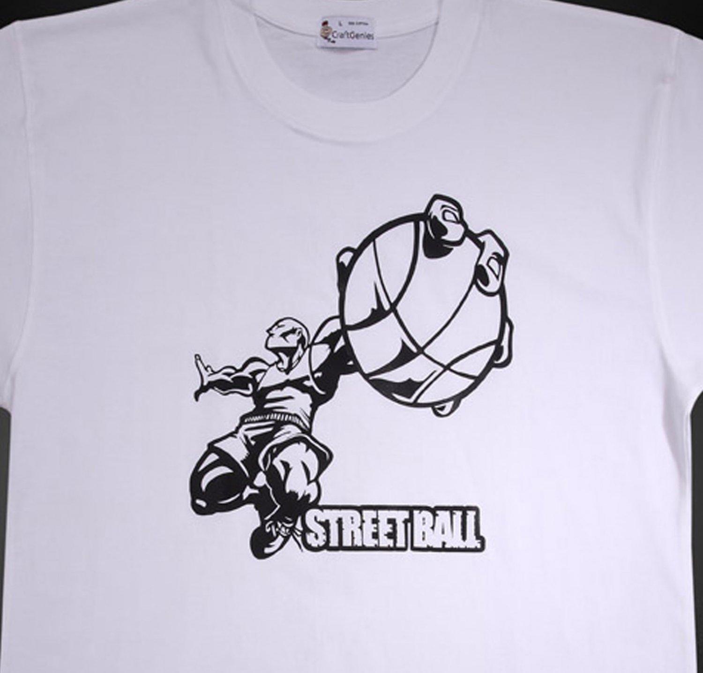 Streetball Sports T Shirts for Men, Original Package  (Men's XL)