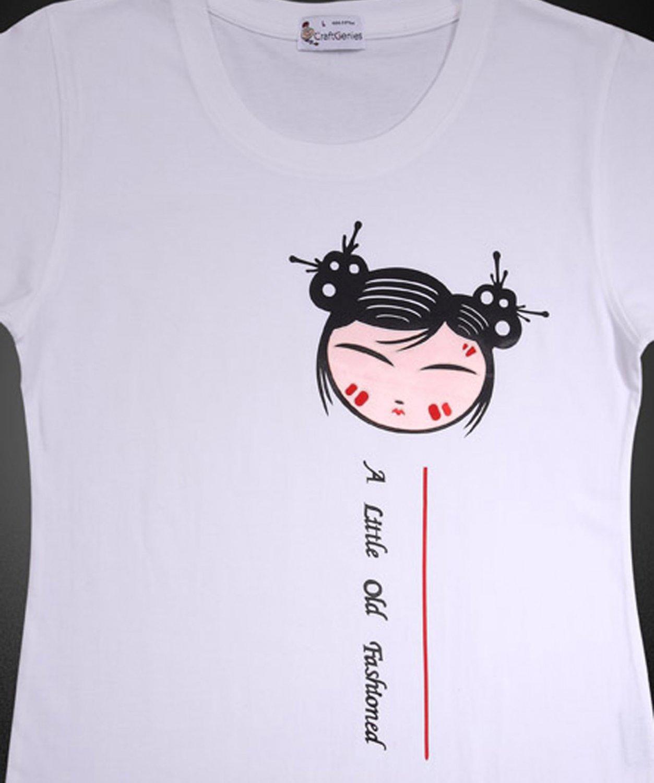 Girl T Shirt Design for Female Wear, New, Never Opened   (Women's Medium)