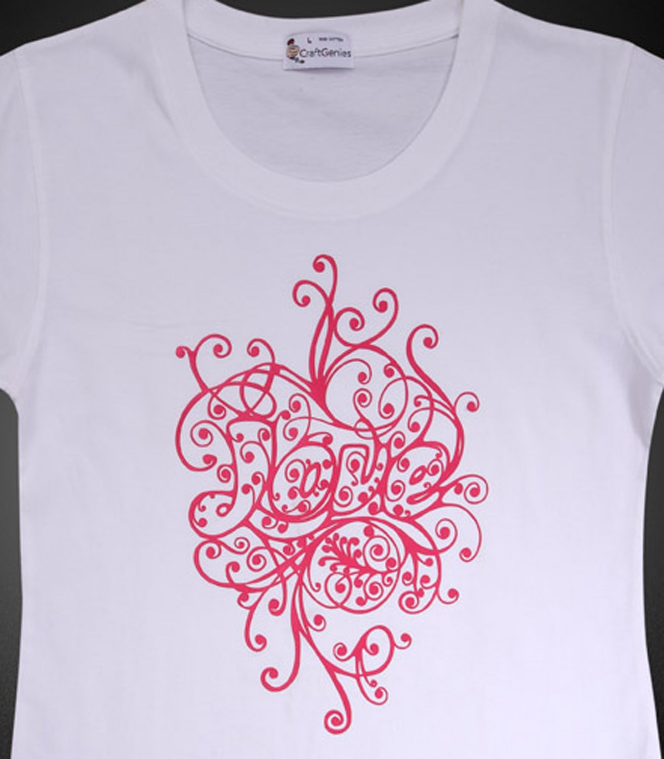 "Artistic Letter ""LOVE"" T-Shirt Design for Women, New   (Women's Large)"