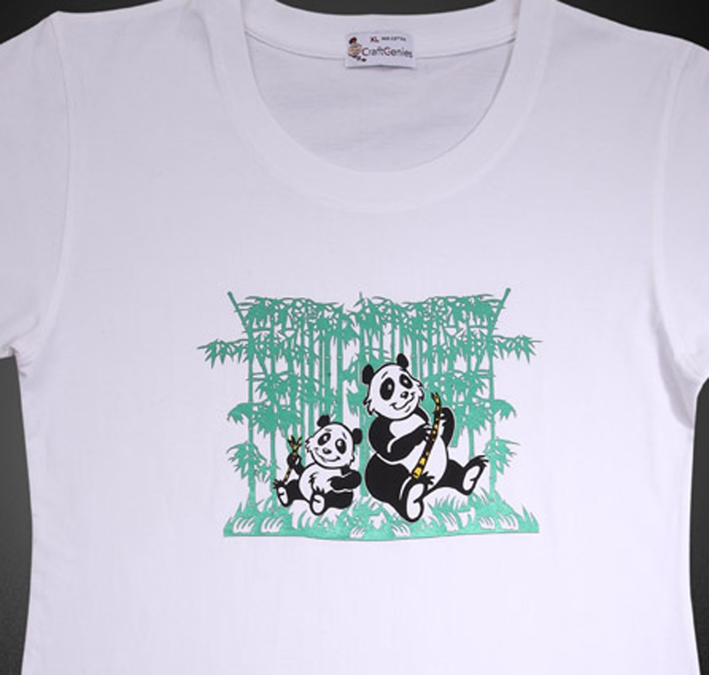 Panda T Shirt Design for Women - Original in Package  (Women's XL)