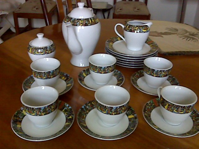 Hand Made ceramic #Ethiopian tea set with #Queen Shiba art work. ��� ��� 30% discount.