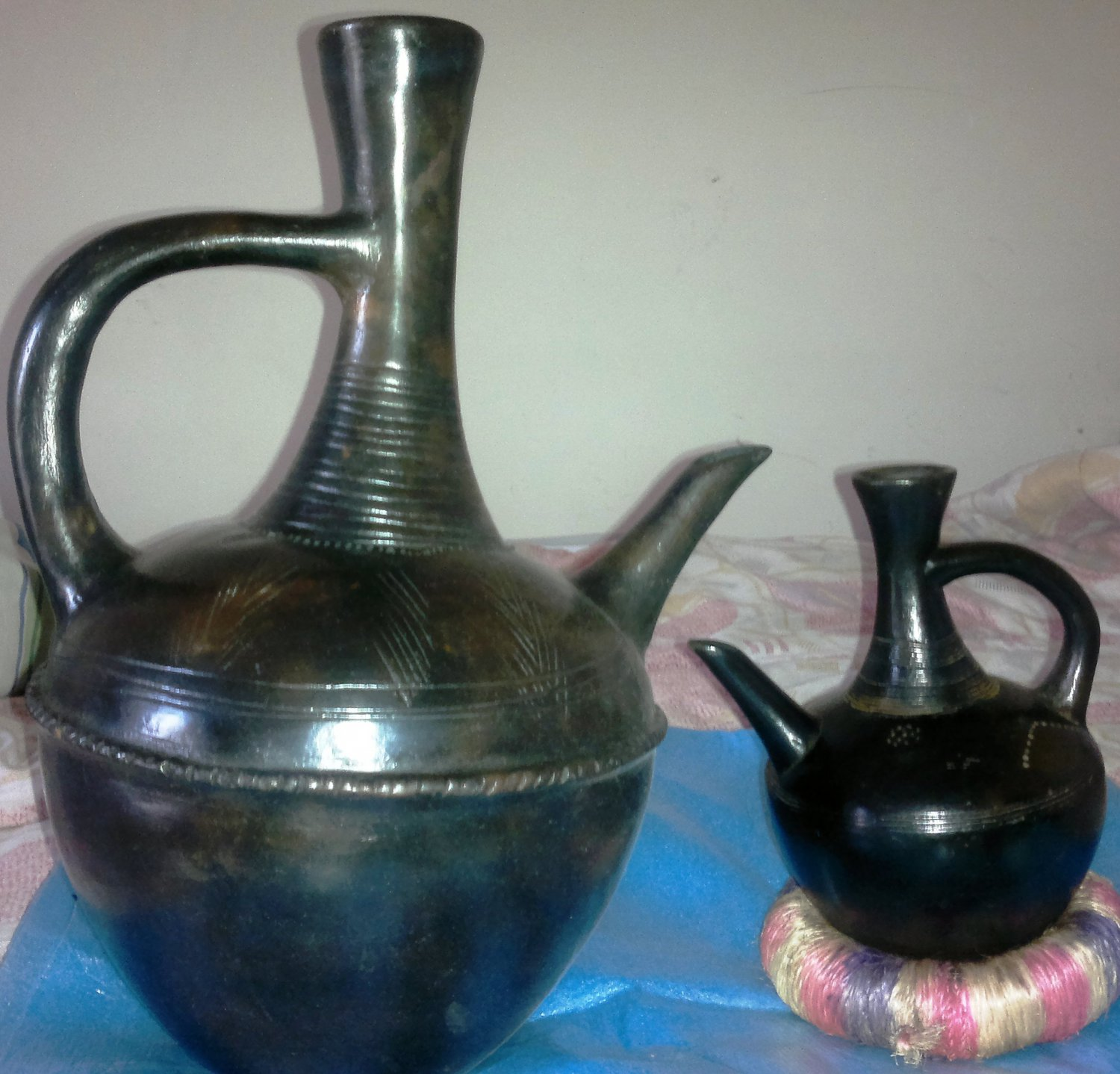 Ethiopian coffee brewing pot (jebena) Large size free shipping to your door.