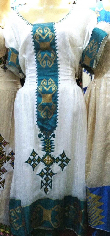 Ethiopian/Eritrean custom, Hand Made, Habeshan, Hager lebse, Traditional Dress Free shipping