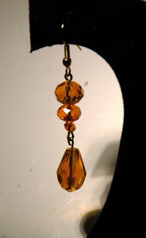 Gold 2 Tier Lantern Drop Earrings