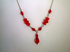 Red Single Drop Necklace