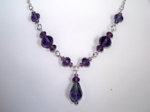 Purple Single Drop Necklace