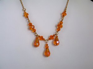 Gold Triple Drop Necklace