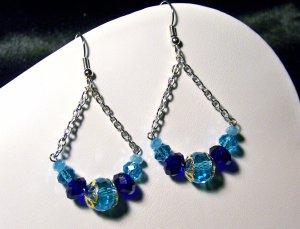Blue Swing Earrings