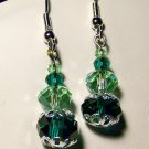 Green Single Drop Earrings