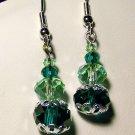 Green Single Drop Earrings