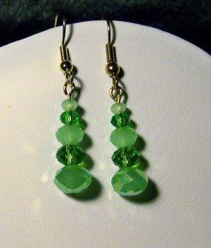 Green Single Tier Earrings