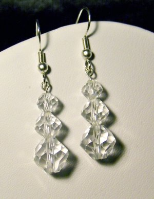 Clear Single Tier Earrings